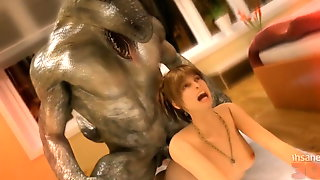 Forbidden Orcish Love. 3D Monster Hentai
