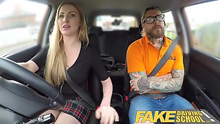 Fake Driving School Fake instructors hot fuck with minx