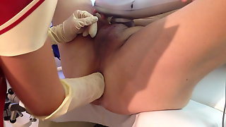Doctor fisting my ass for the first time