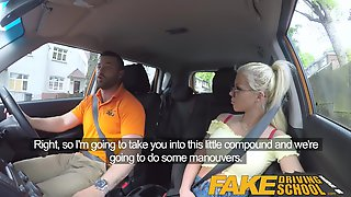 Fake Driving School Big tits blonde gets fucked and cum spla