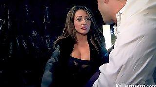 Big boobs prostitute fucks big cock punter