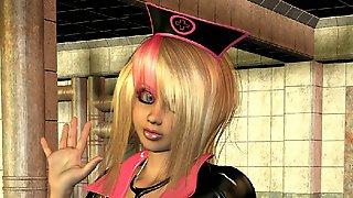 3D Petite Blonde Nurse in Latex