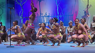 Topless South African beauty pageant show