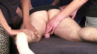 Four girl massage