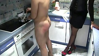 Whipping Ladies in Action