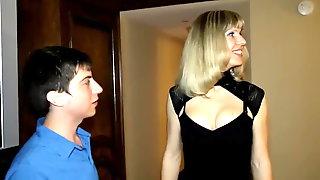 Prostitute TS Lora and a Virgin Boy