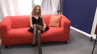 Hot MILF in short dress and high heels