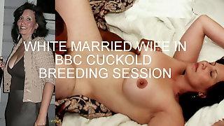 Amateur White Couple - BBC Cuckold Breeding Session
