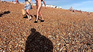 CFNM Beach walk Brighton Nude Beach 2019
