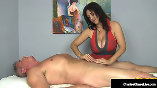 Big Titty Milf Masseuse Charlee Chase Milks Cock 2 Times!