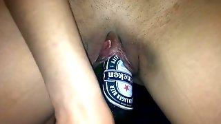 Lovingnessa fucking huge beer bottle