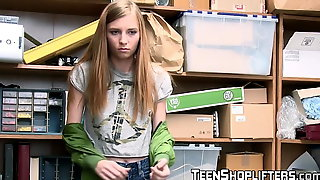 Cute teen Ava Parker pays the pussy price for stealing