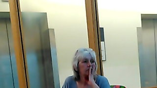 Sexy grey haired lady