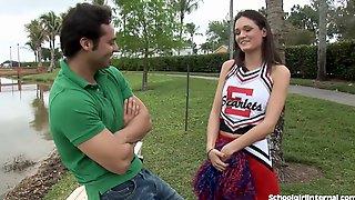 Slutty Cheerleader Gets One Big Creampie
