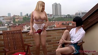 FFstockings - Lesbian lingerie party with Angel Wicky