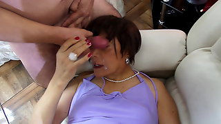 Vicious anal sex in an orgy with four husbands