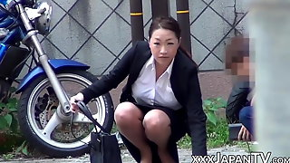 Japanese ladies groped in public by naughty voyeurs