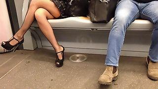 My wife in a train...