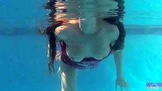 Sabrina Deep Plays in the Pool