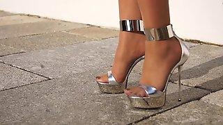 High Heels Prateados