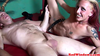 Smalltits euro hooker eaten out and fucked