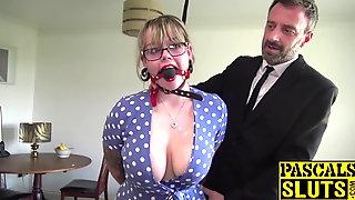 Lovely Madison Stuart bound for maledom dick insertion
