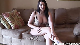 Jerk your dick for your horny goddess JOI