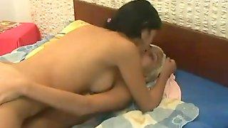 Lesbian sloppy kisses