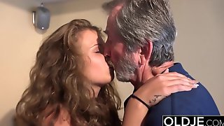 Old Young Beautiful teen maid fucked by ugly old grandpa