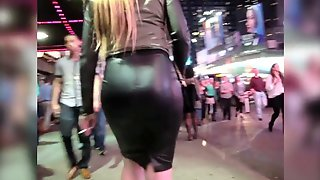 Candid Leather (Black Leather Pencil Skirt)