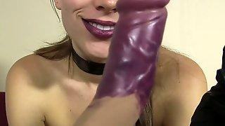 Lelu Love-Goth Lipstick Dildo Blowjob