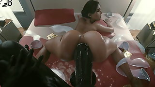 Ashley fucked by a monster cock