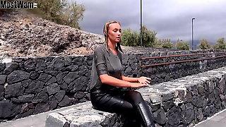 Leather skirt wet