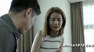 Korean babe has sex with japanese dork
