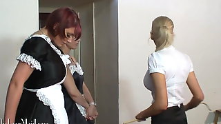 Double Caning  - Maids in Uniform