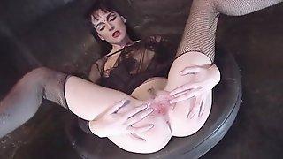 LIKE CLOCKWORK - fishnets goth girl fucked threesome