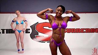Muscle Goddess vs Slender Muscular Blonde