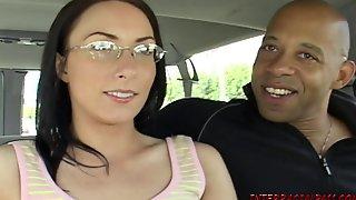 Mom in glasses fucks Blackzilla monster black cock