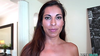 Perving on my new latina maid