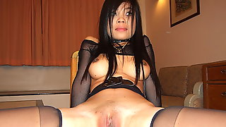 Lovely Asian Prostitutes Herself On Camera