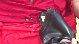 Sexy dresses leather skirt silky tops bra cum part 2