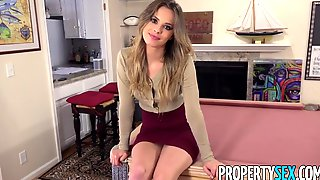 PropertySex - Real estate agent cheers up client with sex