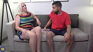 Matures take young cocks