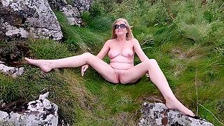 Naked at the coast