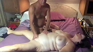 Giving the wife a massage