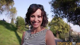 Milf anally rides bbc pov
