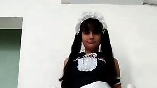 Ladyboy Mirai Shows Her Maid Skills