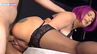 SUGARBABESTV: Greek Milf make sex behind the bar