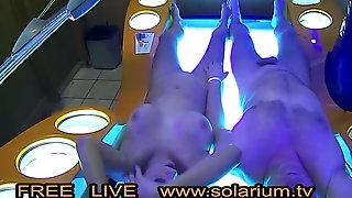 Couple fucks in the Public Solarium Cam 2