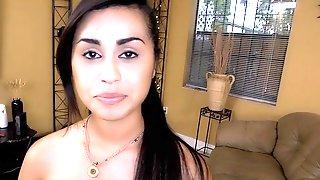 Shy Latina Teen Maid
